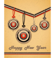 Retro greeting card vector image