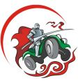 quad bike knight vector image vector image