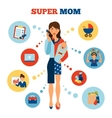 Businesswoman Mother Concept vector image