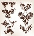 tattoo collection vector image vector image