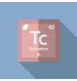 Chemical element Technetium Flat vector image