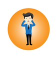 Business is crying vector image