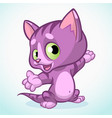 cartoon funny cat waving vector image