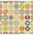 Geometric seamless pattern with round shapes vector image
