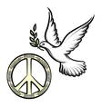 Pacific and the dove of peace vector image