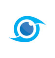 photography eye logo image vector image