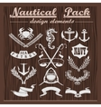 Retro pack of nautical elements logos and badges vector image