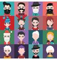 set of avatars a vector image