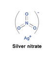 silver nitrate inorganic vector image