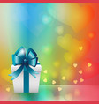 white gift box background vector image
