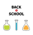 Back to school Science lab glass set Laboratory vector image