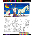 Fantasy Characters for coloring vector image