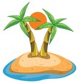 palms on island vector image