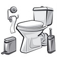 restroom wc with toilet vector image vector image