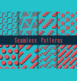 geometric modern seamless pattern set retro vector image
