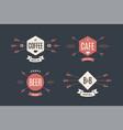 set of emblem label and design elements vector image
