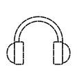 Headphone music device vector image