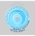 neon light soft blue round with text vector image vector image