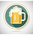 Beer Mug with Foam Retro Symbol Alcohol Icon long vector image vector image