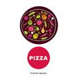 Pizza design menu template vector image vector image