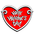 Happy Valentines day title in the heart vector image