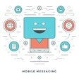 Flat line Mobile Messaging Concept vector image vector image