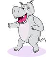 hippo cartoon vector image vector image
