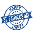 happy st Patricks day grunge retro blue isolated vector image