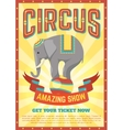 Flat Circus Poster vector image vector image