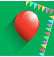 Birthday air balloon icon vector image