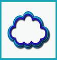 blue web cloud vector image
