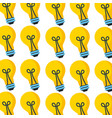 bulb light creativity seamless pattern design vector image