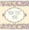 Cute floral frame vector image