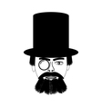 Retro man portrait vector image