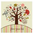 tree with women accessories vector image