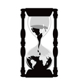 earth hourglass vector image vector image