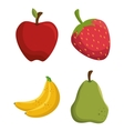 Set tasty fruits healthy food vector image