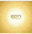 Gold White New Year Christmas Snowflake Background vector image