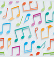 multicolor musical wallpaper vector image vector image