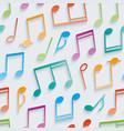 multicolor musical wallpaper vector image