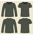 Long-sleeved T-shirt and T-shirt template vector image vector image