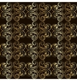 Vintage seamless pattern with golden curls in vector image