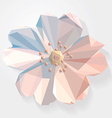 3d origami low polygon flower vector