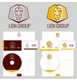 Lion logo templates set for your business vector image