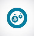 Christmas Decorations icon bold blue circle border vector image
