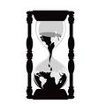 earth hourglass vector image