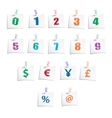 Hands Draw Numbers and Symbols vector image