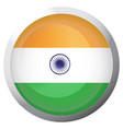 isolated flag of india vector image
