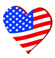 Love for America vector image