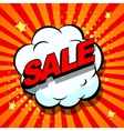 Sale Comic book explosion vector image